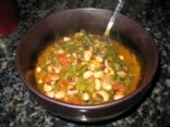 Spicy Collard and Black-eyed Pea Soup