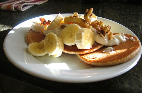 Whole Wheat Banana Pancakes!