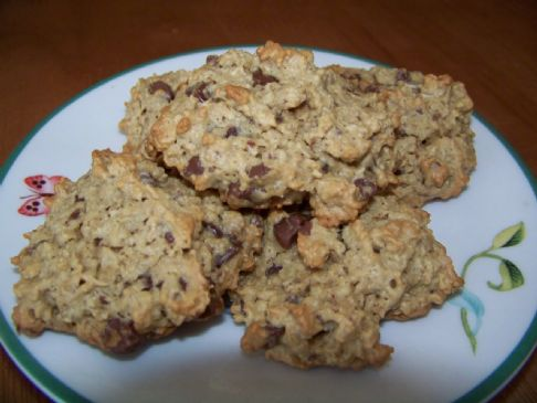 100 Calorie Peanut Butter Chocolate Oat Cookies