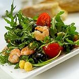 Wild Rocket, chickpea & Prawn Salad