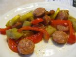 Cajun Smoked Sausage and Veggies