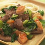 Eating Well Spicy Beef with Shrimp and Bok Choy