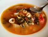 Bok Choy and Squid Soup