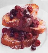 Tofu French Toast with BlackBerries