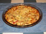 Salmon Quiche with Zuchini Crust
