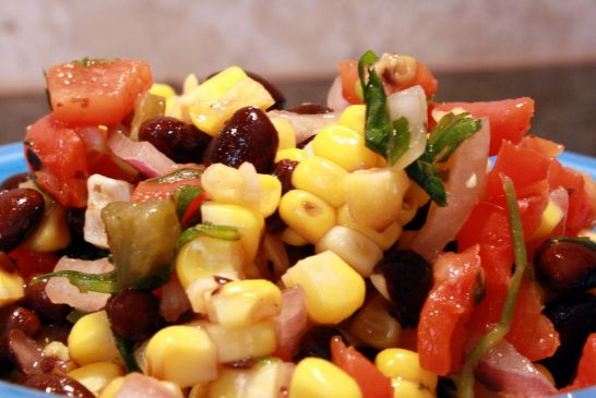 Roasted Corn and Black Bean Salsa