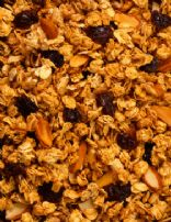 Oatmeal with almonds, prunes and fiber