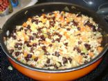 Rice, Beans and Vegetables