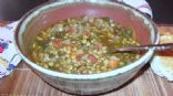 Lentil Soup with Spinach and Vinegar