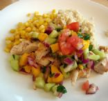 Grilled Chicken with Warm Mango Salsa