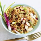 Quinoa and Pomegranate Salad with Toasted Almonds