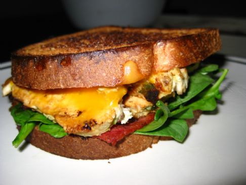 Spiced-up Chicken and Bacon Sandwhich