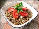 Mediterranean Lentil Sprout Salad (Raw)