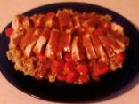 Chicken Pilaf w/ Peanut Sauce