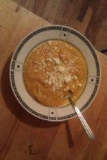 creamy roasted carrot sweet potato and garlic soup