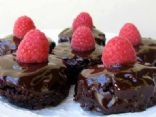 Chocolate Raspberry Ganache Brownies