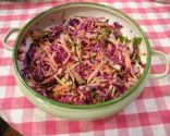 Red Cabbage, Carrot and Jicama Slaw