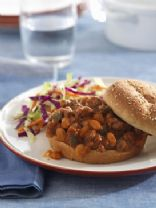 Beefy-Bean Sloppy Joe And cole Slaw