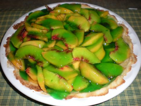 Peach-Lime jello pie