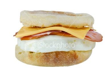 Biscuit Sandwich, Egg, Ham, and Cheese