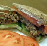 Mediterranean Meatloaf Sandwich