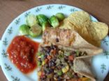 Black Bean Veggie Burrito Filling