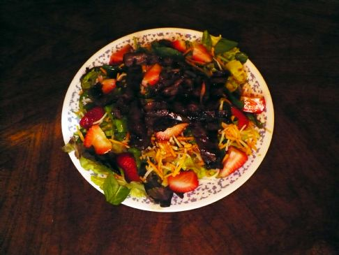 Easy Asian Sesame Ginger Beef Salad
