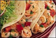 Honey Cilantro Shrimp Soft Tacos