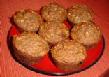Banana Oatmeal Muffins with Flax Seeds & Walnuts