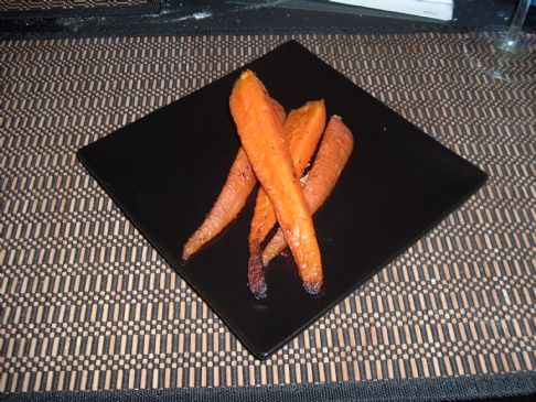 Roaster red Curry Carrots with Ginger and Garlic