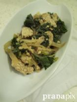 Sauteed Kale with Tempeh