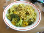 Curried rice and veg