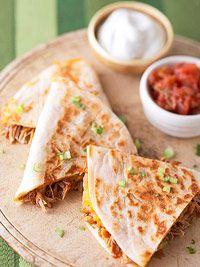 BBQ Chicken & Cheddar Quesadillas