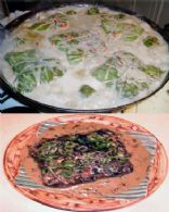 Helene's Wrapped Laing (taro leaves with coconut cream)