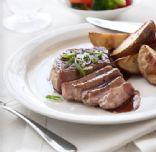 Pork Chop with Pomegrante Glaze