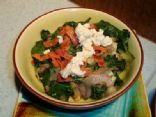 Lap-Band Friendly: Wilted Spinach with Blue Cheese, Bacon and Onion