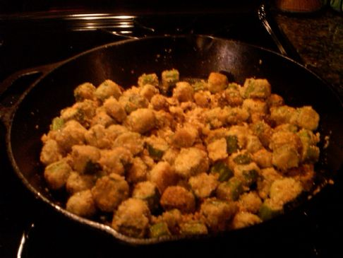 Cornmeal-Crusted Okra