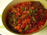 Beet, Barley, Mushroom, and Kale Soup