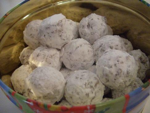 ... according to the recipe the noel bars noel nut balls noel nut balls
