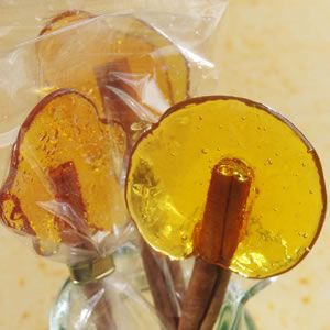 Burnt-Sugar Lollipops