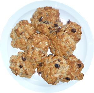 Fruity scones / IN SWEDISH: Frukt scones