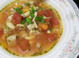 Chicken Soup with Tomatoes and Beans