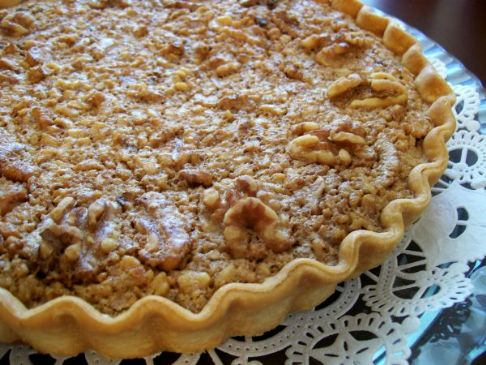 Walnut Maple Syrup Pie Recipe | SparkRecipes