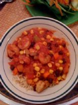 Shrimp, Corn and Black Bean stew