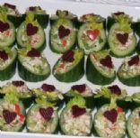 Valentine Cucumber Cups