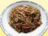 Salmon with Noodles & Stir-Fried Vegetables