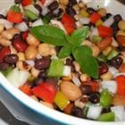 Herb Garlic Beans and Vegetable/3 bean salad
