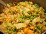 Brown Basmati Rice and Peas- India Flavored -1 c.