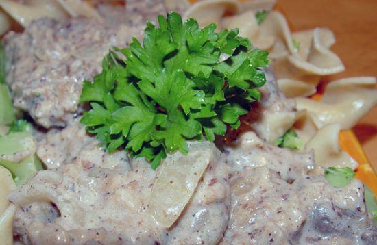 Meat less stroganoff