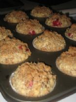 Oatmeal Cranberry Date Muffins With Flax